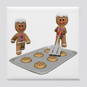 GINGERBREAD MEN DEFENSE Tile Coaster
