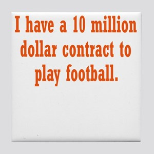 football-contract3 Tile Coaster