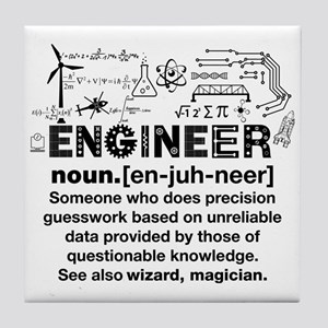 Funny Engineer Definition Tile Coaster