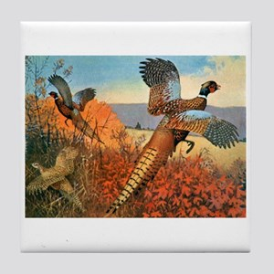 Pheasant Bird Tile Coaster
