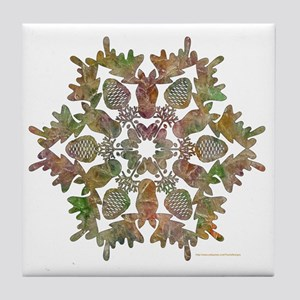 moose snowflake Tile Coaster