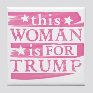 Woman for TRUMP Tile Coaster