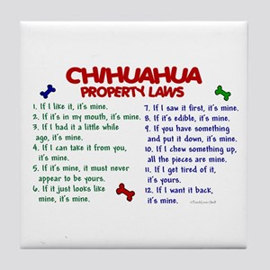 Chihuahua Property Laws 2 Tile Coaster