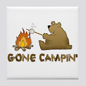 Gone Campin' Tile Coaster