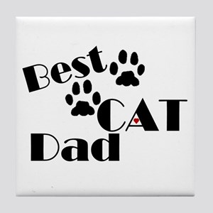 Best Cat Dad Tile Coaster