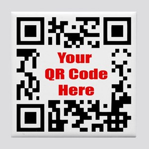 Personalized QR Code Tile Coaster