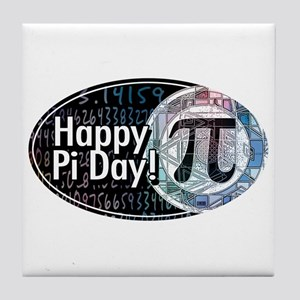 Happy Pi Day Oval Tile Coaster