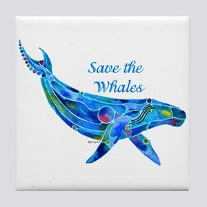 Humpback Save the Whales Tile Coaster