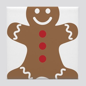 Christmas Gingerbread Man Tile Coaster