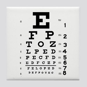 Eye Chart Tile Coaster