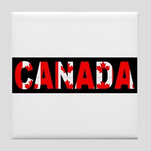 Canada-Black Tile Coaster