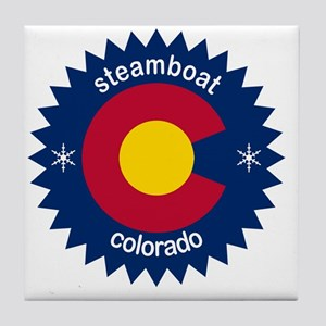 steamboat Tile Coaster