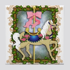 Flower Carousel Tile Coaster
