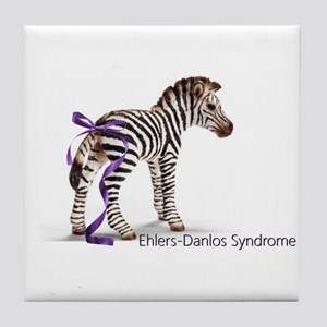 Zebra with Ribbon on Tail Tile Coaster