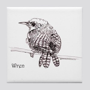 Little Brown Wren Tile Coaster