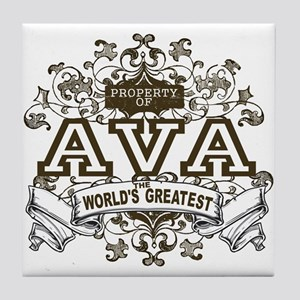Property Of Ava Tile Coaster