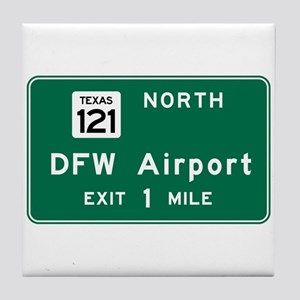 DFW Airport, Dallas-Fort Worth, TX Ro Tile Coaster