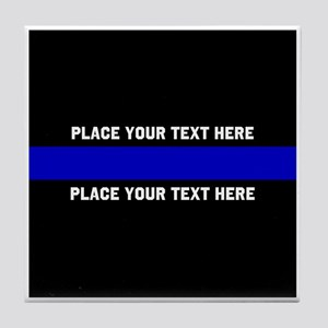 Thin Blue Line Customized Tile Coaster