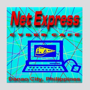 Net Express Cyber Cafe Tile Coaster