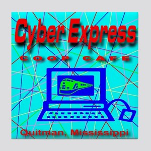 Cyber Express Quitman Mississ Tile Coaster