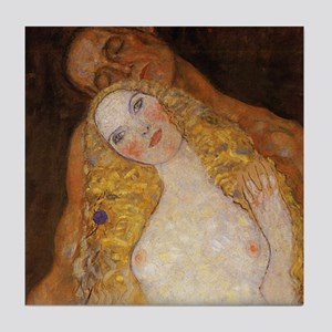 Klimt Adam and Eve Part 1 of 3 Art Tile Set