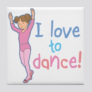 Love Dance Ballet Girl 1 Tile Coaster