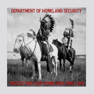 NDN Warriors Homeland Securit Tile Coaster