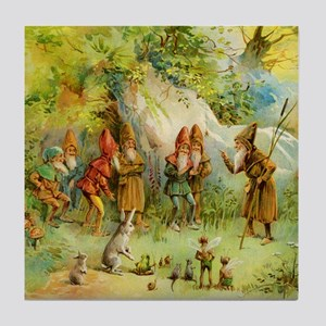 Gnomes, Elves & Forest Fairies Tile Coaster