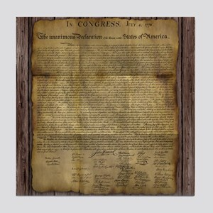 The Declaration of Independence Tile Coaster
