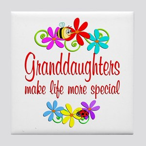 Special Granddaughter Tile Coaster