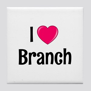 I heart Branch Tile Coaster