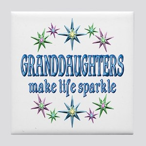 Granddaughters Sparkle Tile Coaster