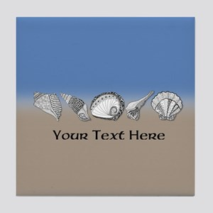 Beach Seashell Theme Art Personalizable Tile Coast
