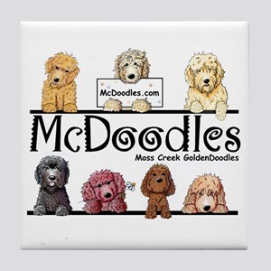 Goldendoodle McDoodles Tile Coaster