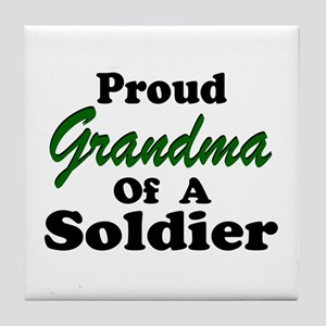 Proud Grandma of a Soldier Tile Coaster