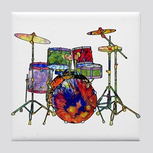 Wild Drums Tile Coaster