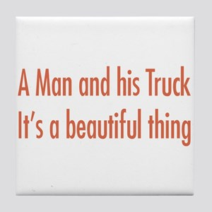A Man and His Truck Tile Coaster