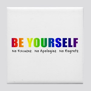 Be Yourself (Rainbow) Tile Coaster