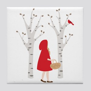 Red Riding Hood Tile Coaster