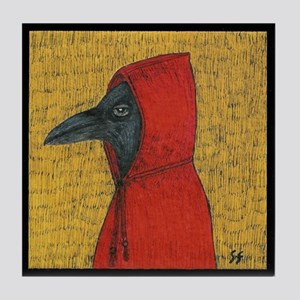 Hooded Crow Art Tile