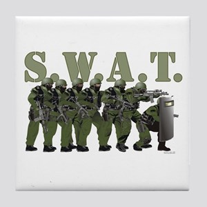 SWAT ENTRY TEAM Tile Coaster