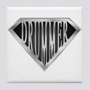 SuperDrummer(metal) Tile Coaster