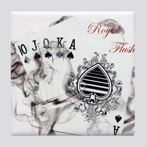 SmokinRoyalFlushB Tile Coaster