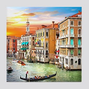 Venice Photo Tile Coaster