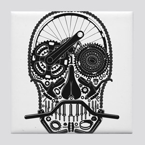 Bike Parts Skull Tile Coaster