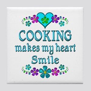 Cooking Smiles Tile Coaster