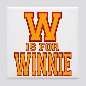 W is for Winnie Tile Coaster