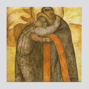 Diego Rivera Art Tile Set - The Embrace - P2of2