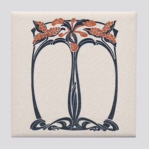 Art Nouveau Design Tile Coaster