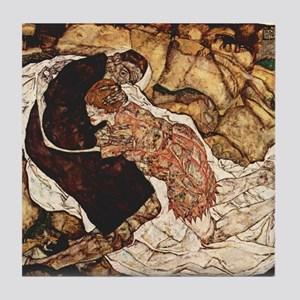 Egon Schiele Death And The Woman Tile Coaster
